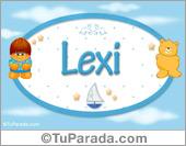 Nombre Nombre para bebé, Lexi
