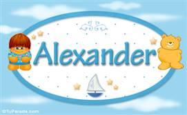 Alexander - Nombre para bebé