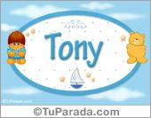 Tony - Nombre para bebé