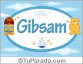 Gibsam - Nombre para bebé
