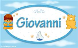 Giovanni - Nombre para bebé