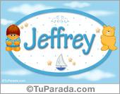 Nombre Nombre para bebé, Jeffrey