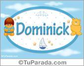 Nombre Nombre para bebé, Dominick