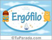 Nombre Nombre para bebé, Ergófilo