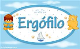 Ergófilo - Nombre para bebé