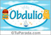 Obdulio - Nombre para bebé