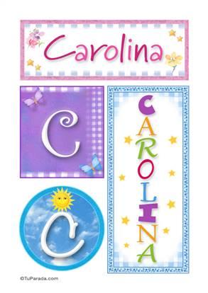 Carolina - Carteles e iniciales