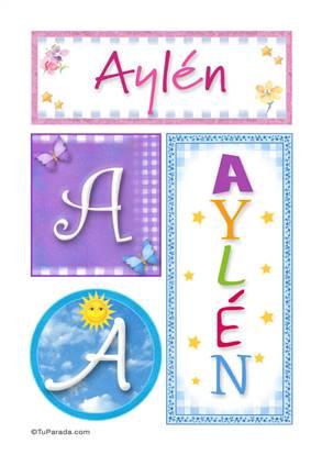 Aylén - Carteles e iniciales