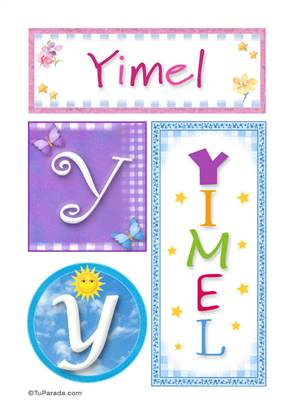 Yimel - Carteles e iniciales
