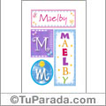 Maelby - Carteles e iniciales