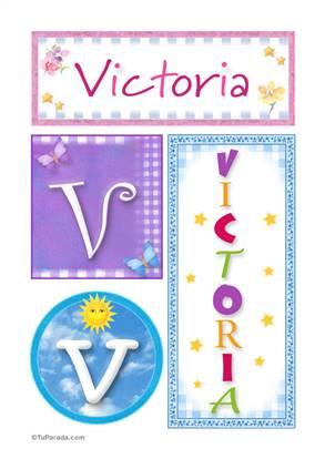 Victoria - Carteles e iniciales