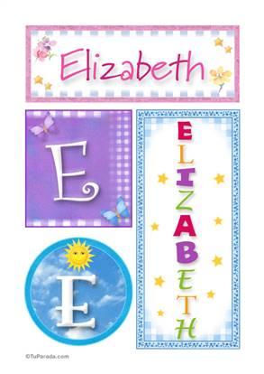 Elizabeth - Carteles e iniciales