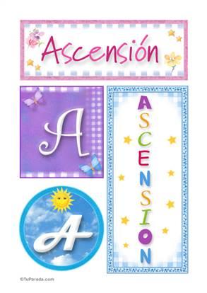 Ascensión - Carteles e iniciales
