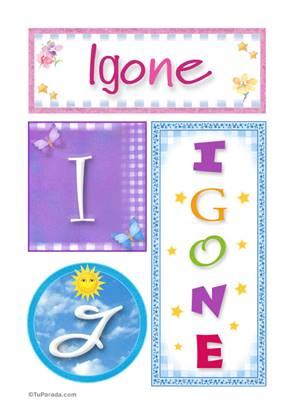 Igone- Carteles e iniciales