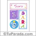 Sara - Carteles e iniciales