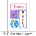 Estela - Carteles e iniciales