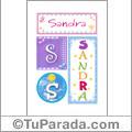 Sandra - Carteles e iniciales
