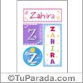 Zahira - Carteles e iniciales