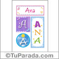 Ana - Carteles e iniciales