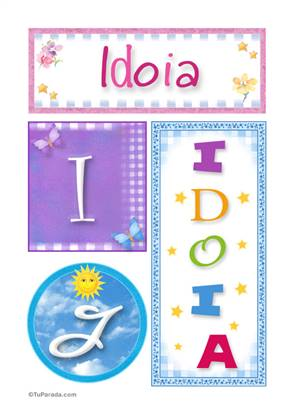 Idoia - Carteles e iniciales