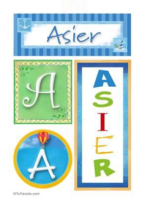 Asier - Carteles e iniciales