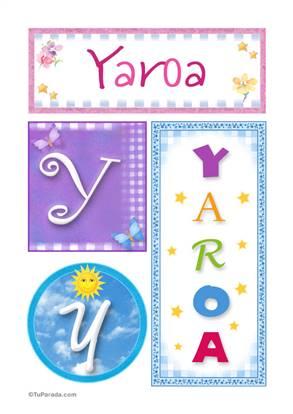 Yaroa - Carteles e iniciales