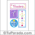 Teodora - Carteles e iniciales