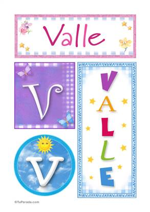 Valle - Carteles e iniciales