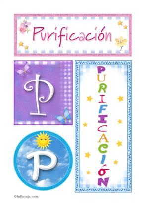 Purificación - Carteles e iniciales