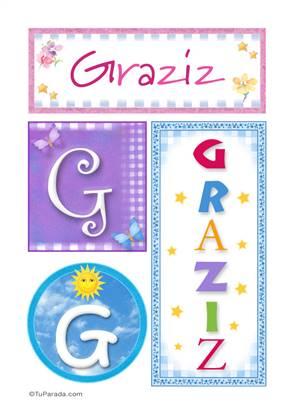 Graziz - Carteles e iniciales