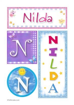 Nilda - Carteles e iniciales