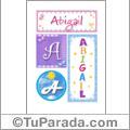 Abigail - Carteles e iniciales