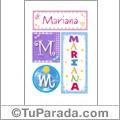 Mariana - Carteles e iniciales