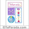 Marcela - Carteles e iniciales
