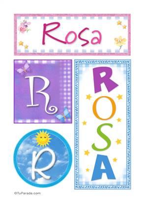 Rosa - Carteles e iniciales