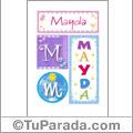 Mayda - Carteles e iniciales