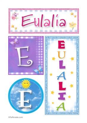 Eulalia - Carteles e iniciales