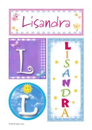 Lisandra - Carteles e iniciales