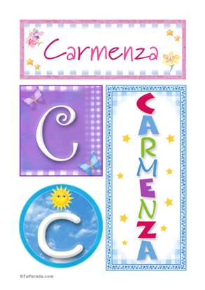 Carmenza - Carteles e iniciales