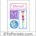 Marsell - Carteles e iniciales