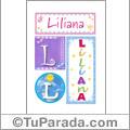 Liliana - Carteles e iniciales