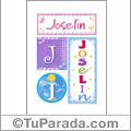 Joselin - Carteles e iniciales
