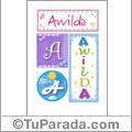 Awilda - Carteles e iniciales