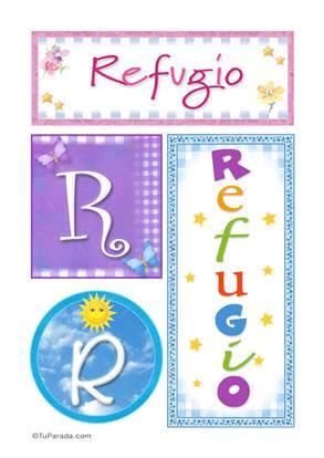 Refugio - Carteles e iniciales