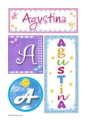 Agustina - Carteles e iniciales