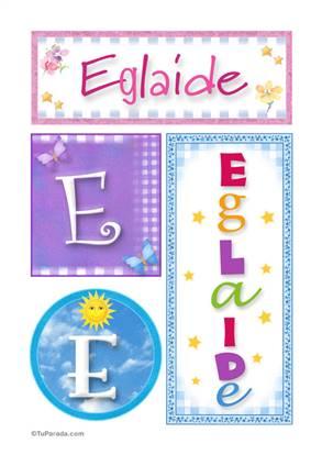 Eglaide - carteles e iniciales