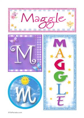 Maggle - Carteles e iniciales