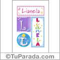 Lianela - Carteles e iniciales