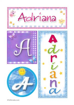 Adriana - Carteles e iniciales