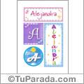 Alejandra - Carteles e iniciales